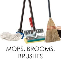 MOPS, BRUSHES, BROOMS